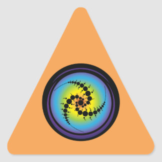 Triple Spiral Crop Circle Triangle Sticker