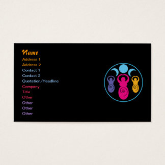 Triple Spiral Goddess Business Card