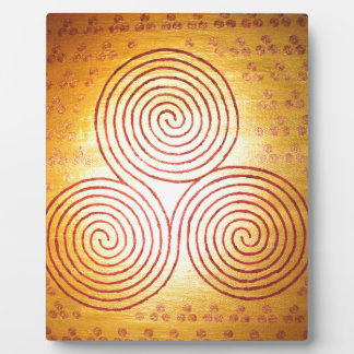 Triple Spiral Labyrinth Plaque