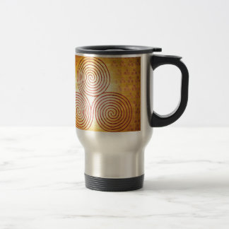 Triple Spiral Labyrinth Travel Mug