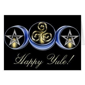 Triple Spiral Lunar Moon Card