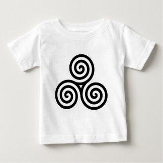Triple Spiral Symbol Baby T-Shirt