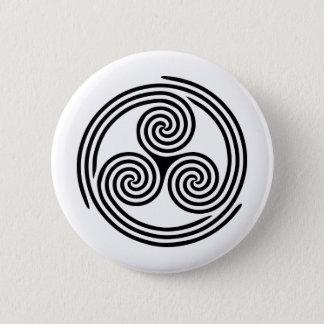 Triple Spiral Triskelion 2 Inch Round Button