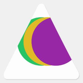 Triple Spot Triangle Sticker