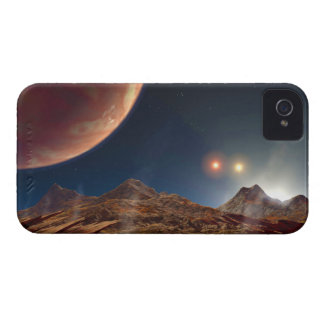 Triple Star Sunset From An Alien Planet iPhone 4 Case-Mate Case