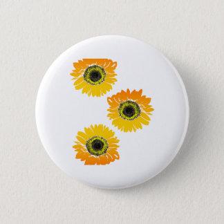 Triple Sunflowers 2 Inch Round Button
