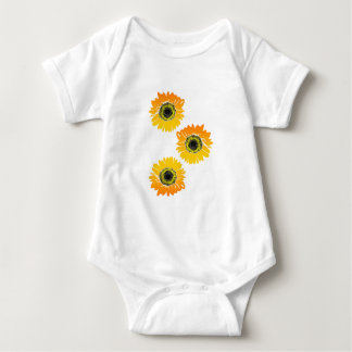 Triple Sunflowers Baby Bodysuit