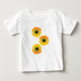 Triple Sunflowers Baby T-Shirt