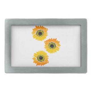 Triple Sunflowers Belt Buckle