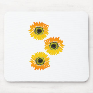 Triple Sunflowers Mouse Pad