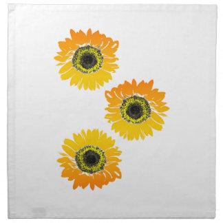 Triple Sunflowers Napkin