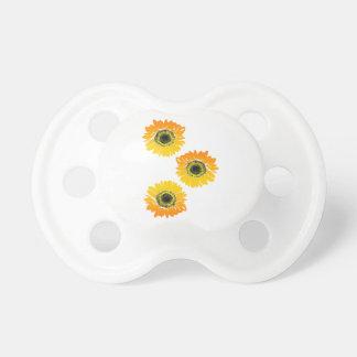 Triple Sunflowers Pacifiers