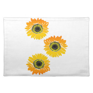 Triple Sunflowers Placemat