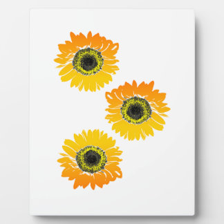 Triple Sunflowers Plaque