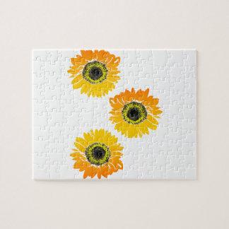 Triple Sunflowers Puzzle