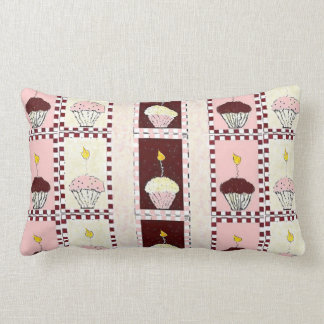 Triple Threat Cupcake Lumbar Pillow