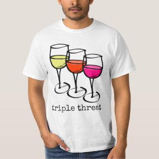 Triple Threat Wine Glasses T-Shirt