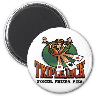 Triplejack Fridge Magnet
