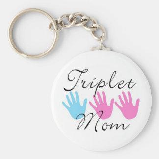 triplet mom key chain