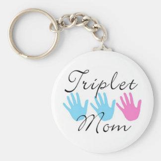 triplet mom key chain - bgb