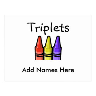 Triplets (Crayons) Postcard