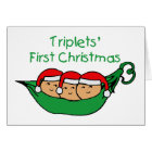 Triplets First Christmas - Pod (no date) Card