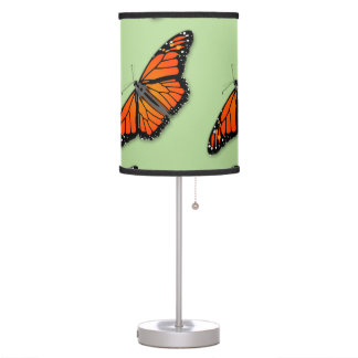 Tripod Table lamp in Sage Green with Butterflies