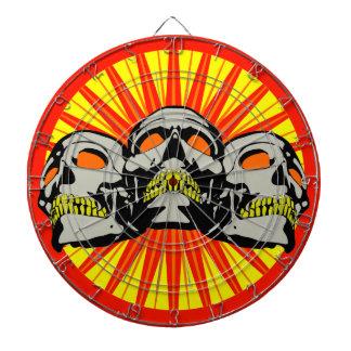 Tripolarize Skulls Dartboard