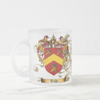 Tripp Coat of Arms Frosted Glass Coffee Mug