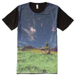 Trippin' It With Buddha All-Over-Print T-Shirt