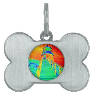 Trippin Seaside Pet ID Tags
