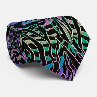 Tripping Tiger Psychedelic Animal Print Tie