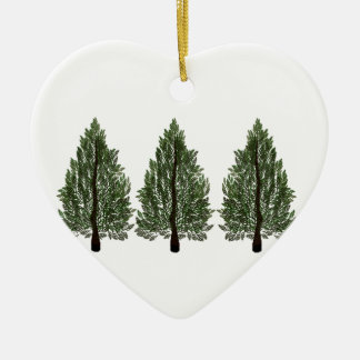 Tripple Pines Ceramic Ornament
