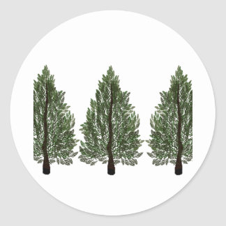 Tripple Pines Classic Round Sticker