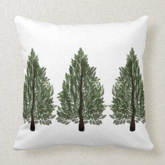Tripple Pines Throw Pillow
