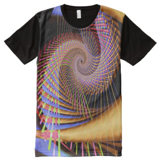 Trippy 2 Psychedelic Abstract Fine Fractal All-Over-Print T-Shirt