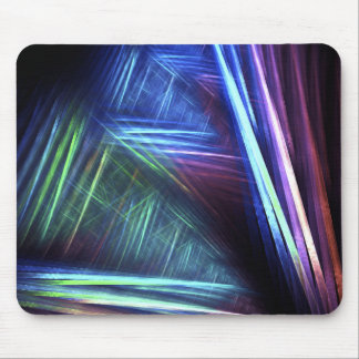 Trippy Abstract Fractal Mouse Pad