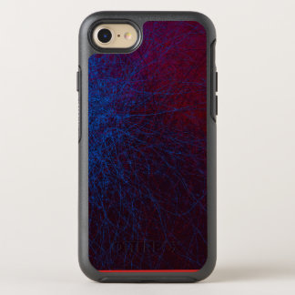 Trippy Abstract Red and Blue Space iPhone Case