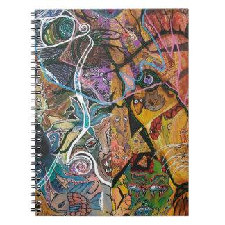 Trippy Acrylic Skin 2 Spiral Note Book