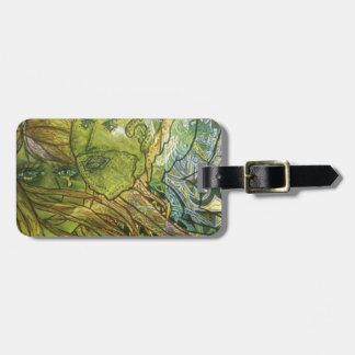 Trippy Acrylic Skin Bag Tag