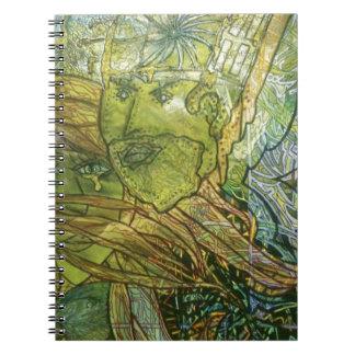 Trippy Acrylic Skin Spiral Notebook