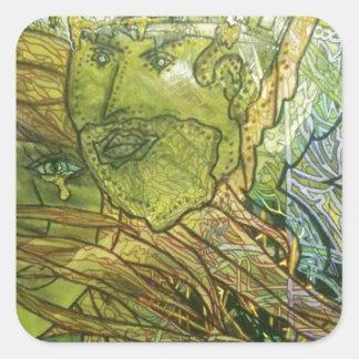 Trippy Acrylic Skin Square Sticker
