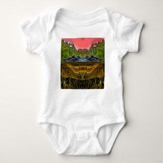Trippy Alligator Baby Bodysuit