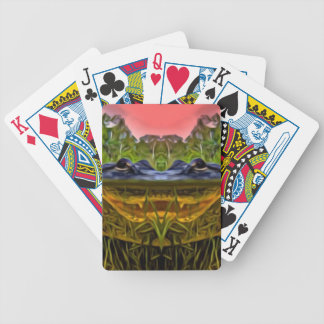 Trippy Alligator Poker Deck