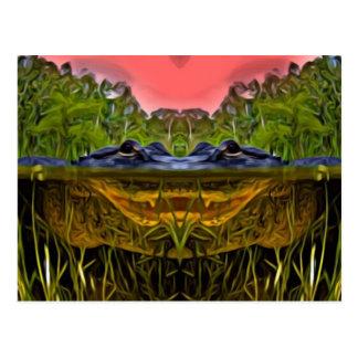 Trippy Alligator Postcard