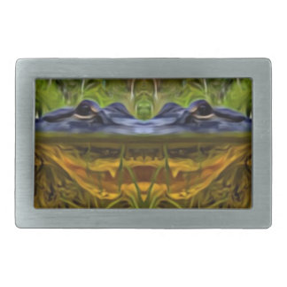Trippy Alligator Rectangular Belt Buckles
