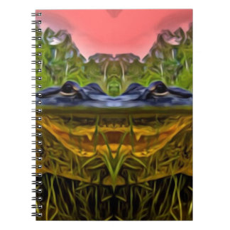 Trippy Alligator Spiral Notebook