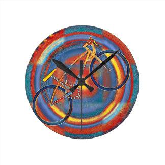 trippy bike round clock