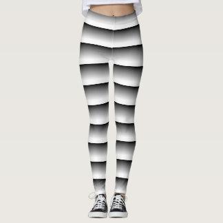 trippy black and white leggings