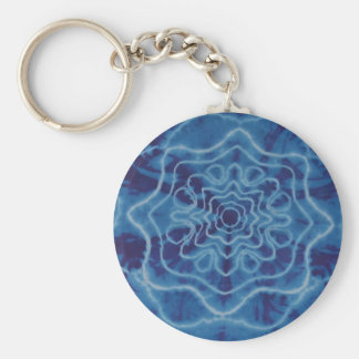Trippy Blue Star Tie Dye Key Chain